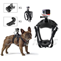 Dog Harness Chest Mount for Gopro hero 3 4 Go pro camcorder Hound Pets Chest strap