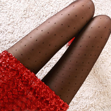 free shipping Big C Recommended product sexy thin slash dot jacquard silk pantyhose sense promoter / spring and summer stockings