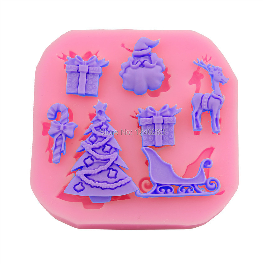 1pcs Food-grade silicone mold bakeware for Cake Decorating Biscuit ,soap ,Christmas shape(China (Mainland))