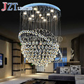T Luxury Crystal Indoor Lamp Simple Creative Modern pendant light for Penthouse Floor Hall Stair Tellurion