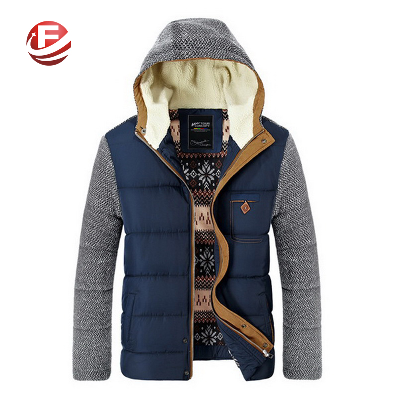 Brand Korean Man Fashion Warm Parkas Size M-3XL Patchwork Design Cotton-Padded Style Young Men Winter Down Jackets(China (Mainland))