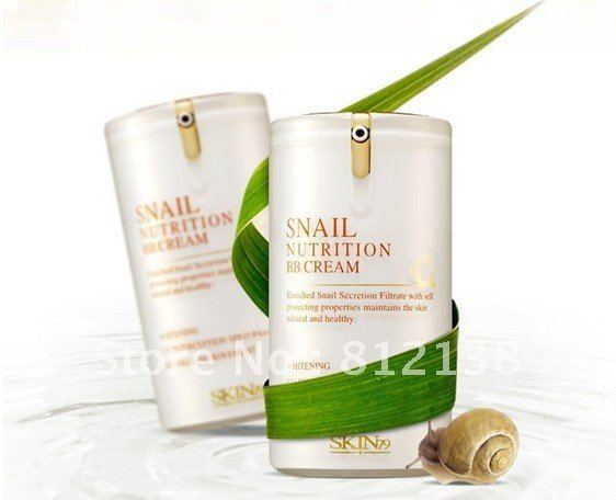 Hot !! New arrival Wholesale  Snail Nutrition BB Cream SPF45 PA+++40ml, 6pcs/lot, free shipping
