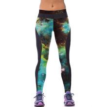 New Women Digital Printing Plus-size Yoga Pants Skinny High Waist Elastic Fitness Yoga Tights Sports Leggings Women Clothing