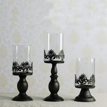 free shipping good quality european classical style hollow iron candle holder candlestick wedding party home decoration creative(China (Mainland))