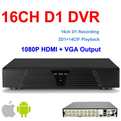 Freeshipping DHL! 16ch CCTV DVR recorder 2ch D1 14ch cif recording Remote Network Mobile Phone View 16ch standalone DVR Recorder(China (Mainland))