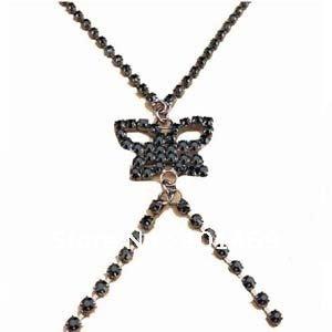 Free shipping rhinestone butterfly bra shoulder straps(China (Mainland))