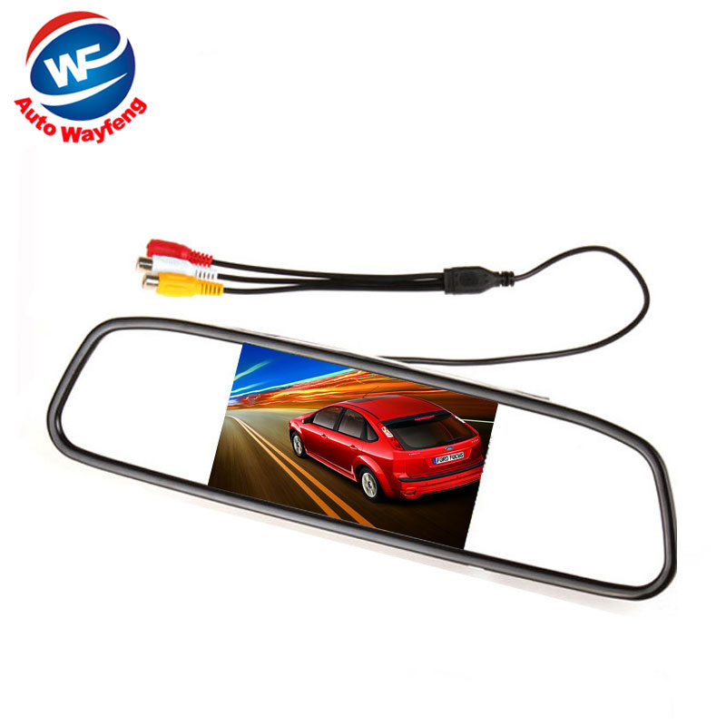 Car HD Video Auto Parking Monitor, LED Night Vision Reversing CCD Car Rear View Camera With 3.5 inch Car Rearview Mirror Monitor(China (Mainland))