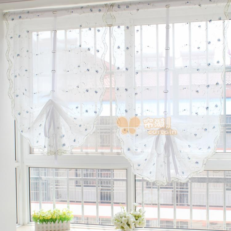 Buy Dream Blue Small Bud Quality Lift Curtain Balloon Curtain For The Living