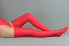 (25YXLM)Woman Sexy Red Lycra underwear + mercerized Thigh High Socks suit for Shapers