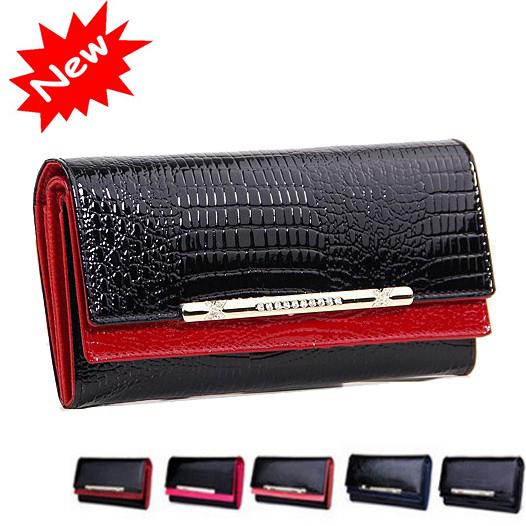 cowhide wallets New 2015 crocodile women wallet Genuine Leather designers brand women wallets lady Fashion clutch