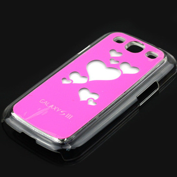 Trendy Hearts Flasher LED Color Changed Protector Case for Samsung Galaxy S3 i9300