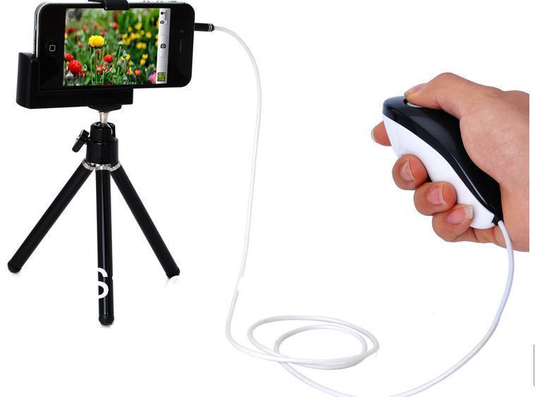 Дистанционный спуск затвора для фотокамеры EGRADE 100pcs/lot iPhone 5 /iPhone 4 & 4S /ipad /ipad /ipod Touch 5 EGRADESRL11836 portable 5 level abs stand holder for ipad 2 ipod touch 4 iphone 3g 4 purple