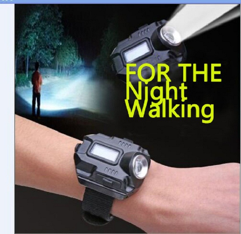 New Portable XPE Q5 R2 LED Wrist Watch Flashlight Torch Light USB Charging Wrist Model Tactical Rechargeable Flashlight(China (Mainland))