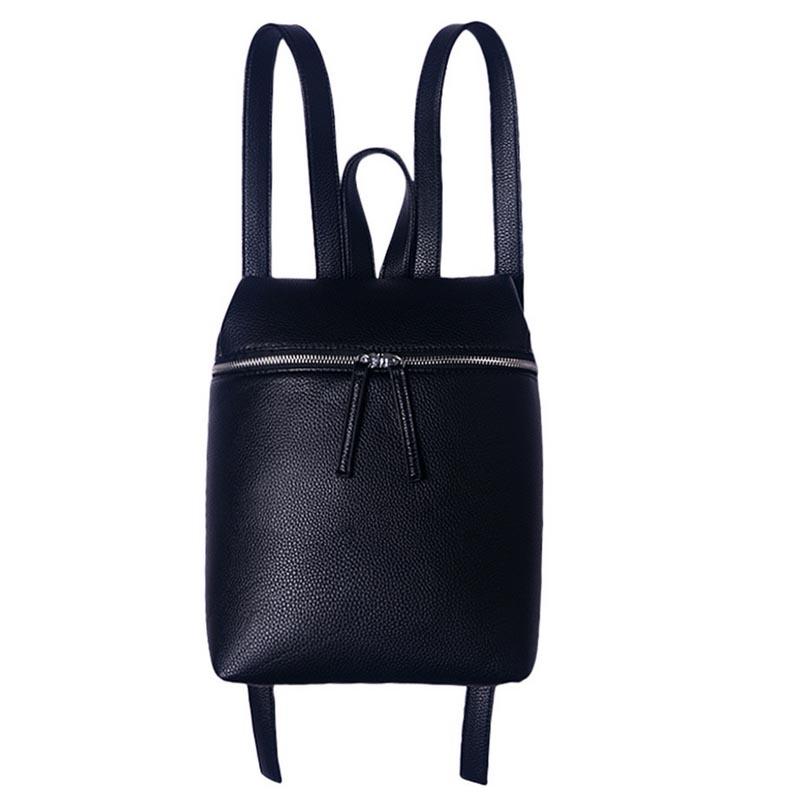 2016 New Designer Simple Femmes Sac À Dos Blanc et Noir Dame Voyage PU Sacs À Dos En Cuir De Mode Sac À Dos Femelle Sac Mochila WQ249(China (Mainland))