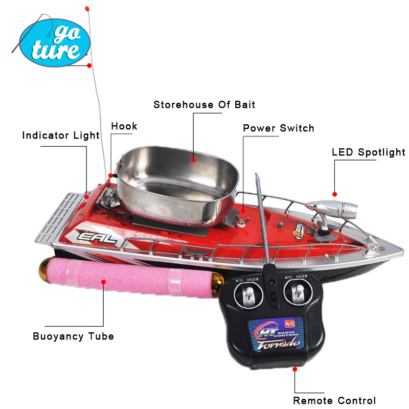 F100 High Speed Mini RC Boat Remote Control Fishing Bait Boat Finder Thrower 19h Fish Finder rc boat for fishing(China (Mainland))
