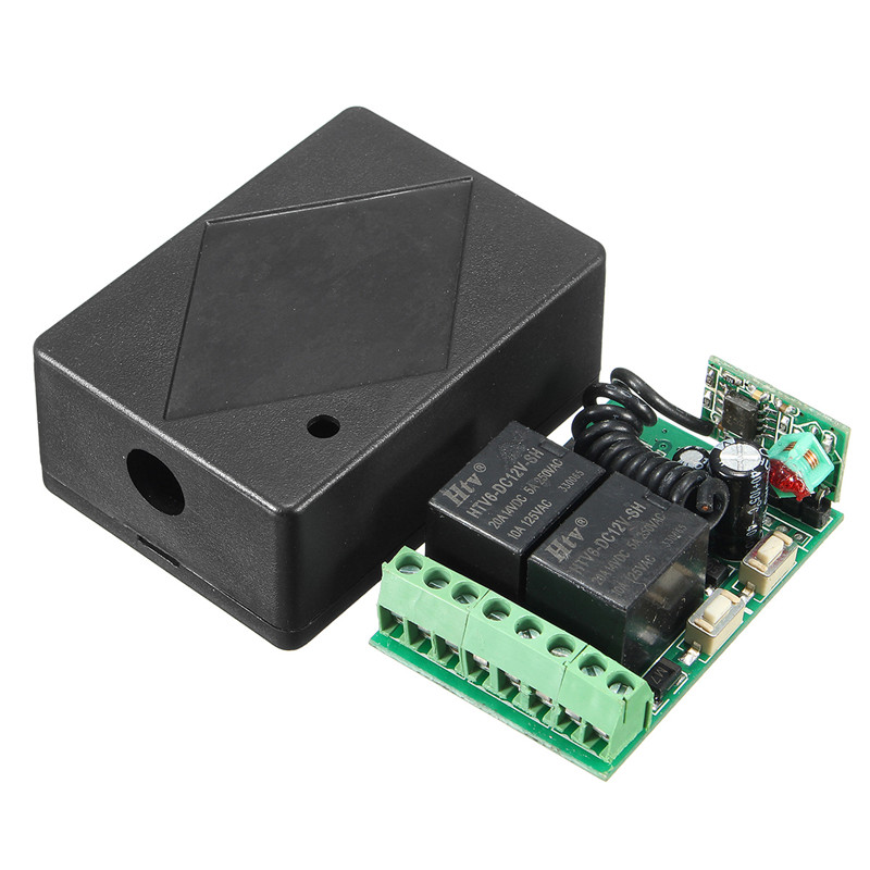 315MHz Wireless Remote Control Switch 12V DC 2CH 10A relay Receiver Module and RF Transmitter 315MHz Remote Control(China (Mainland))