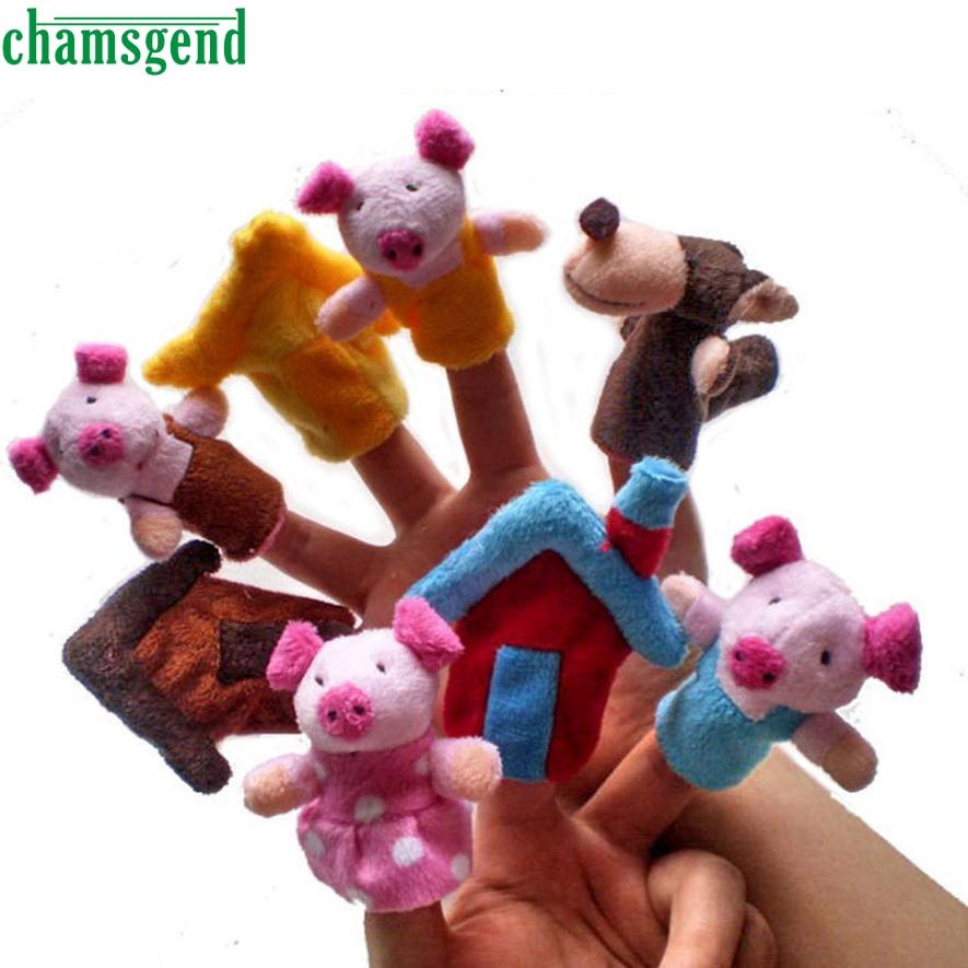 HOT 8pcs Animal Finger Puppet Plush Child Baby Early Education Toys Gift Levert Dropship Aug 29