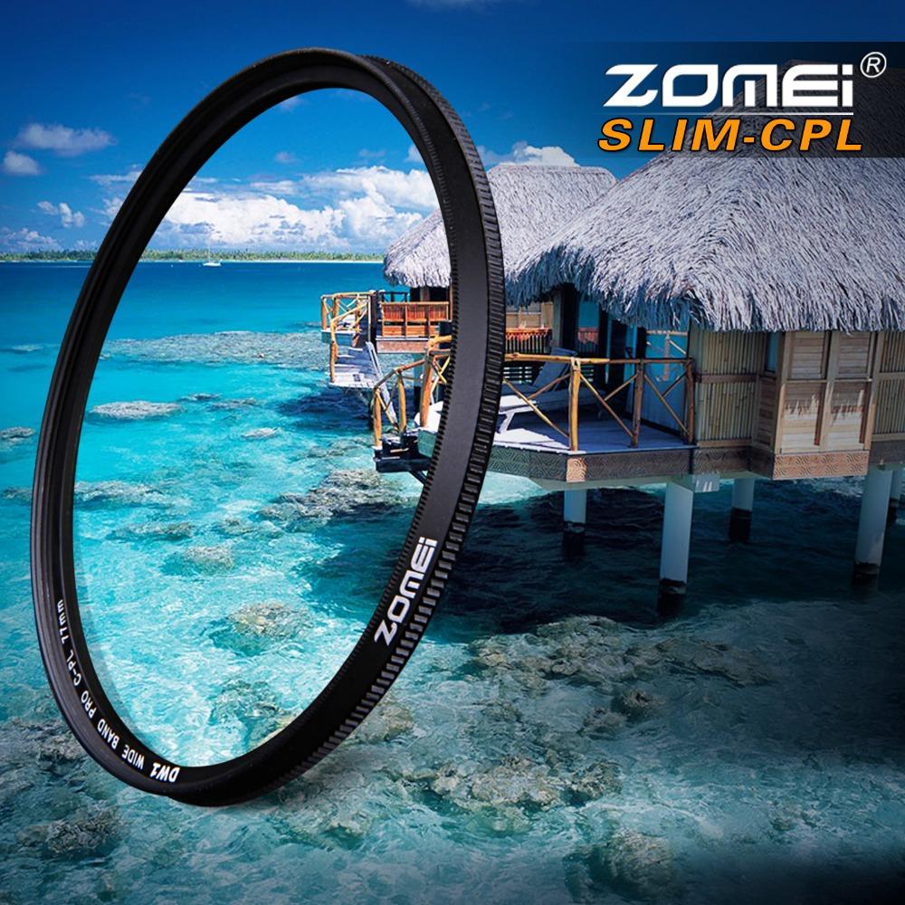 ZOMEI Ultra Slim AGC Optical Glass PRO CPL Circular Polarizing Polarizer Camera Lens Filter 52/55/58/62/67/72/77/82mm(China (Mainland))