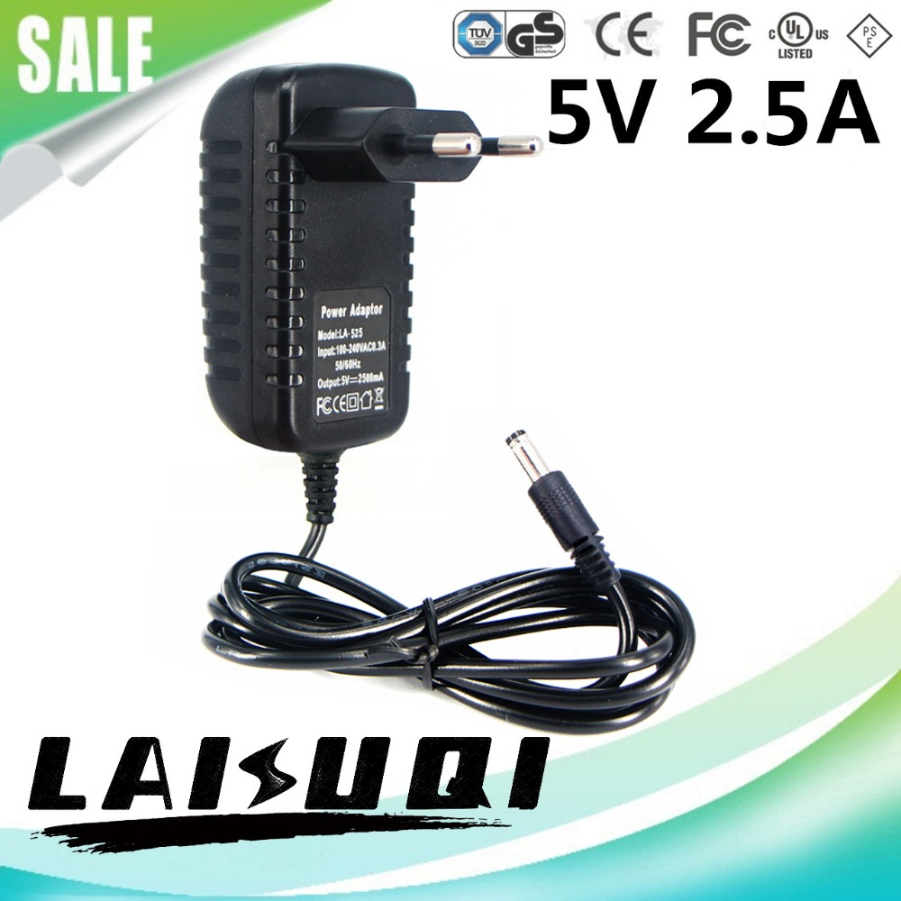 1pcs 5V 2.5A DC5.5mm EU Plug AC Power Adaptor 5V2A Compatible Replace 5V 3A 2A Supply Charger Free Shipping New Special Offer(China (Mainland))