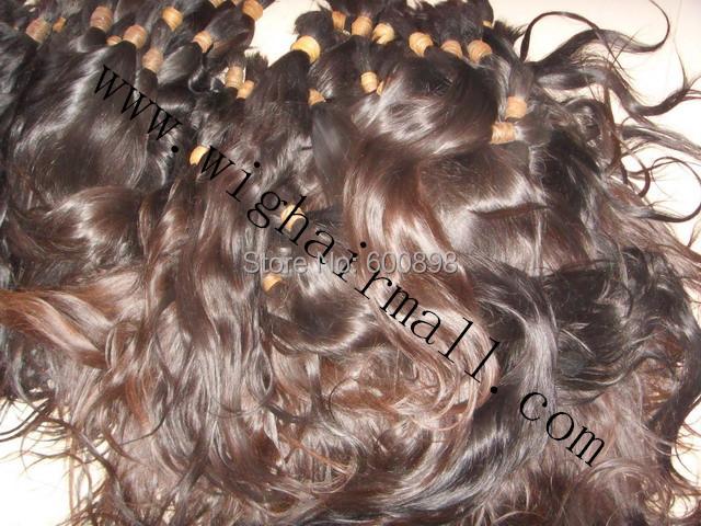 Unprocessed original Raw V-i-r-g-i-n bulk h-u-m-a-n,Russian hair,younger girls hair,natural color,each bundle cut from one women