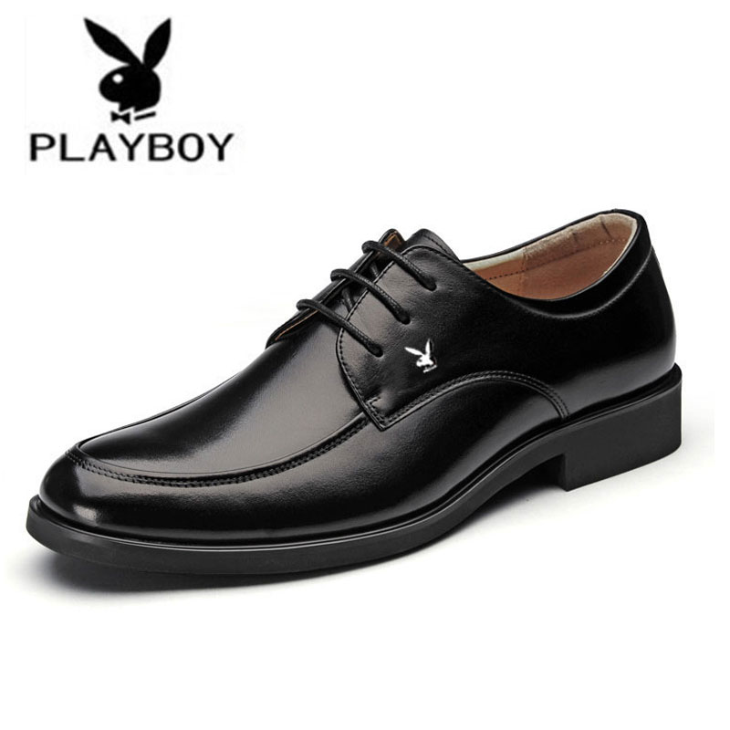 Genuine Playboy Menu0026#39;s Spring Summer 2015 Menu0026#39;s Business Casual Dress Shoes Wedding Shoes Round ...