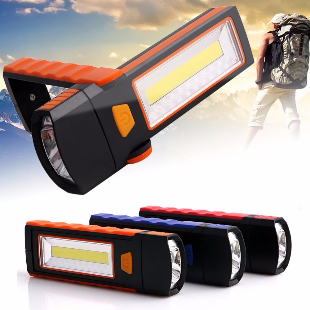 COB LED Work Light Portable Inspection Flashlight with Strong Magnetic Hook and Support Stand Great for Camping Automobile(China (Mainland))