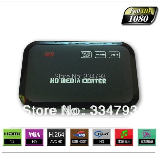 MANYTEL Full HD 1080P USB External HDD Media Player with HDMI VGA SD Support MKV H.264 RMVB WMV(China (Mainland))