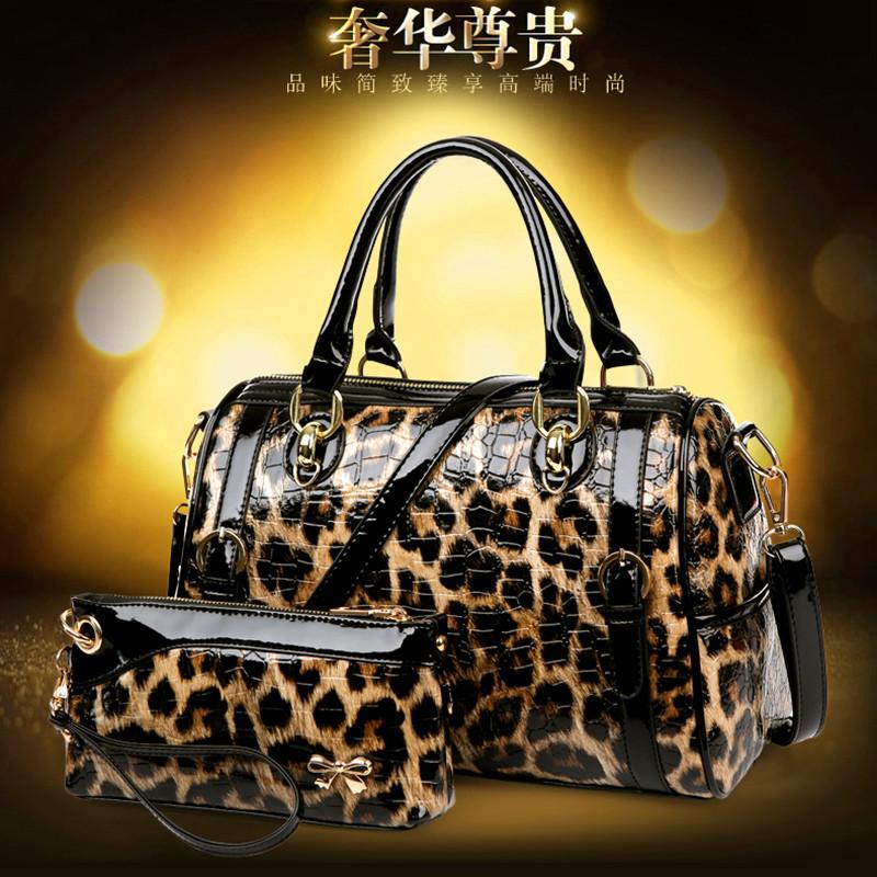 2015 new fashion lady cheetah tattoo hand-held shoulder bag(China (Mainland))