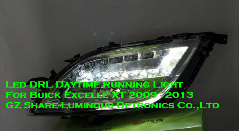 Osram LED DRL Daytime Running Light For Buick Excelle Opel Astra J 2009-2013 Yellow Turn Light 1:1 Replacement Free Shipping(China (Mainland))