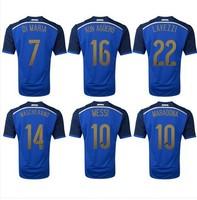 AAA Топ тайский качества новых Аргентина мира прочь футбол болельщиками синий поклонников версии футбол рубашка вышивка логотип Кубка