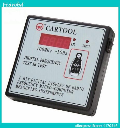 Fcarobd 100 MHz - 1 GHz infrarouge numérique fréquence indicateur Cartool Radio émetteur compteur de fréquence 100 MHz - 1 GHz fréquencemètre(China (Mainland))