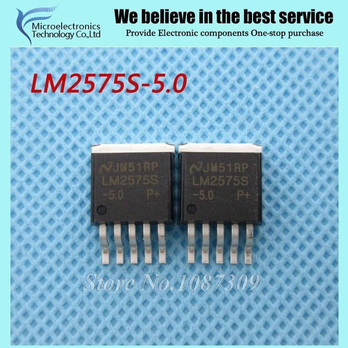 10pcs free shipping LM2575S-5.0 LM2575 LM2575S Voltage Regulators - Switching Regulators 1A 5V STEP-DOWN VLTG REG TO-263-5(China (Mainland))