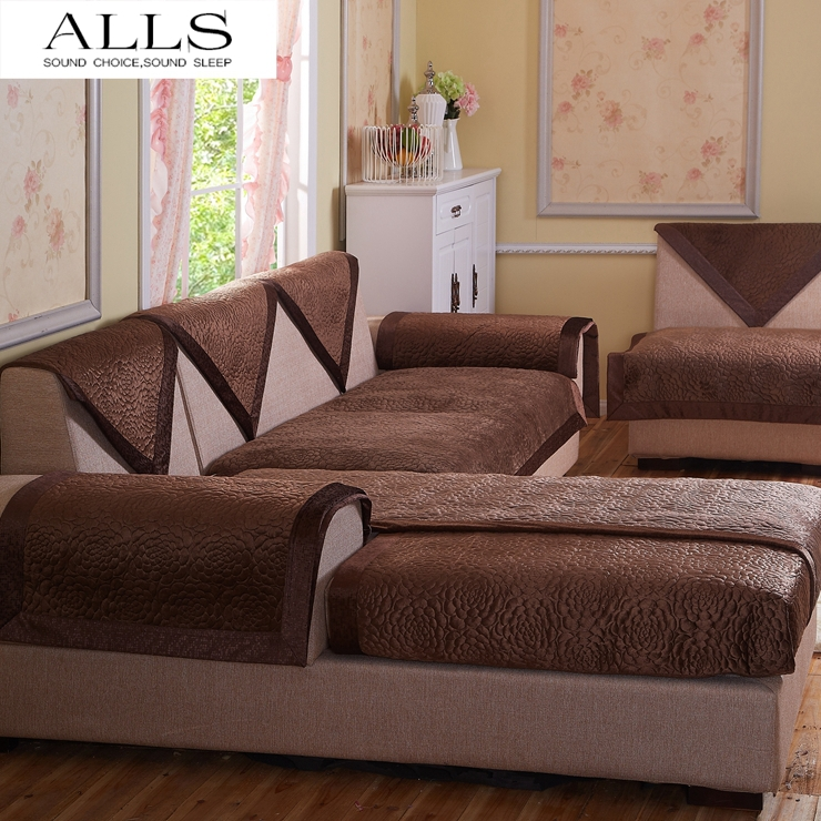 velvet fabric sofa brown decorative sofas covers double sectional modern sofa slipcover 100 2 seater sofa armchair covers(China (Mainland))