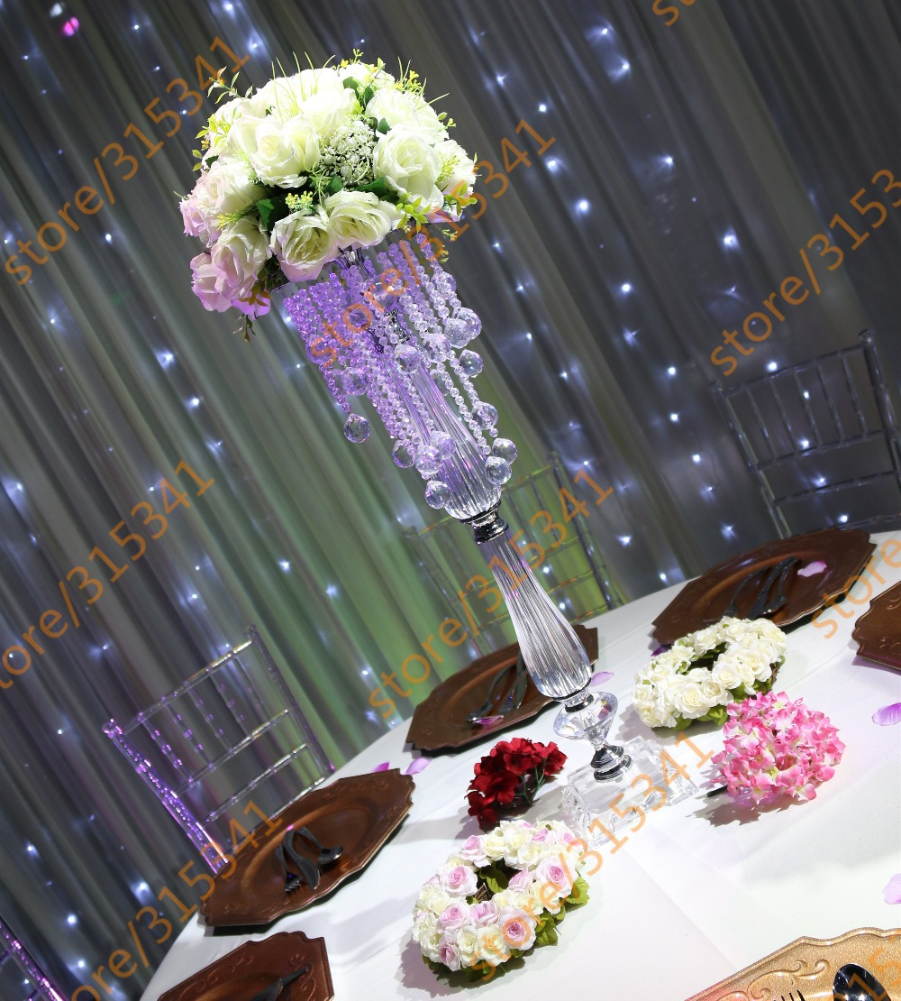 Free shipment OUGE-0015/ 10pcs/lots/ crystal wedding centerpiece/table centerpiece/73cm tall(China (Mainland))