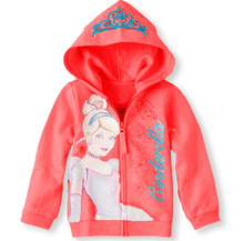 Retail 2015 autumn Children outerwear Cinderella Sweater hoodies sportswear baby girls Hooded coat clothes kids hoody jacket(China (Mainland))