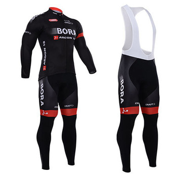 2015 New Bora Team Outdoor Sport Bicycle Clothes Cycling Wear long Sleeve Cycling Jersey and BIB pants(China (Mainland))
