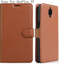BOGVED 9 colors card holder PU skin leather case cover shield OnePlus 3T A3003 - ShenZhen Casteel Store store