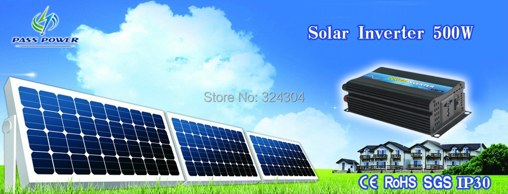 Free shipping off grid pure sine wave 500w solar micro inverter& with eternal guarantee(China (Mainland))