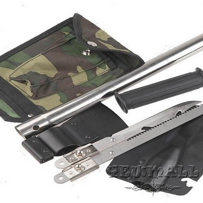 4 in 1 Military Type Steel Shovel Axe Saw Knife Combined Camp Tool Kit Outdoor Tool
