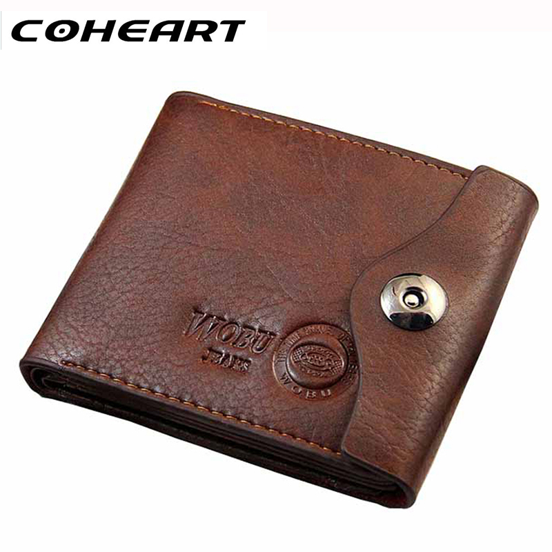 COHEART Men Hasp Wallet Leather Purse Trifold Wallets For Man High Quality Big Capacity Credit Crad Holders Money Bag Cheap(China (Mainland))