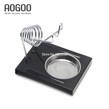 E-011 Soldering Iron Support Stand Station Metal Base Rectangle Stand Holder Safety Protecting Base