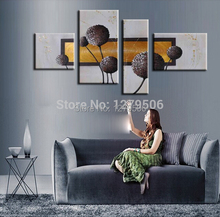 Buy Hand Painted 4 Pieces/set Oil Paintings On Canvas Wall Decor An Abstract Drawing For Living Room Home Decorations for $45.90 in AliExpress store