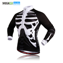 Buy WOSAWE Men's long sleeves cycling jersey Skeleton Mtb Bicycle Jerseys Breathable Bike shirt Ciclismo sports Cycling Clothing for $17.49 in AliExpress store