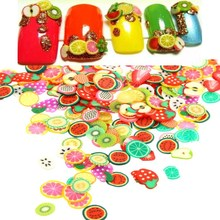 Hot 3D Nail Art Tiny Polymer Clay Slices Animal Fruits Flowers Cute Sticker For DIY Manicure Design Phone Cover Case Decoration(China (Mainland))