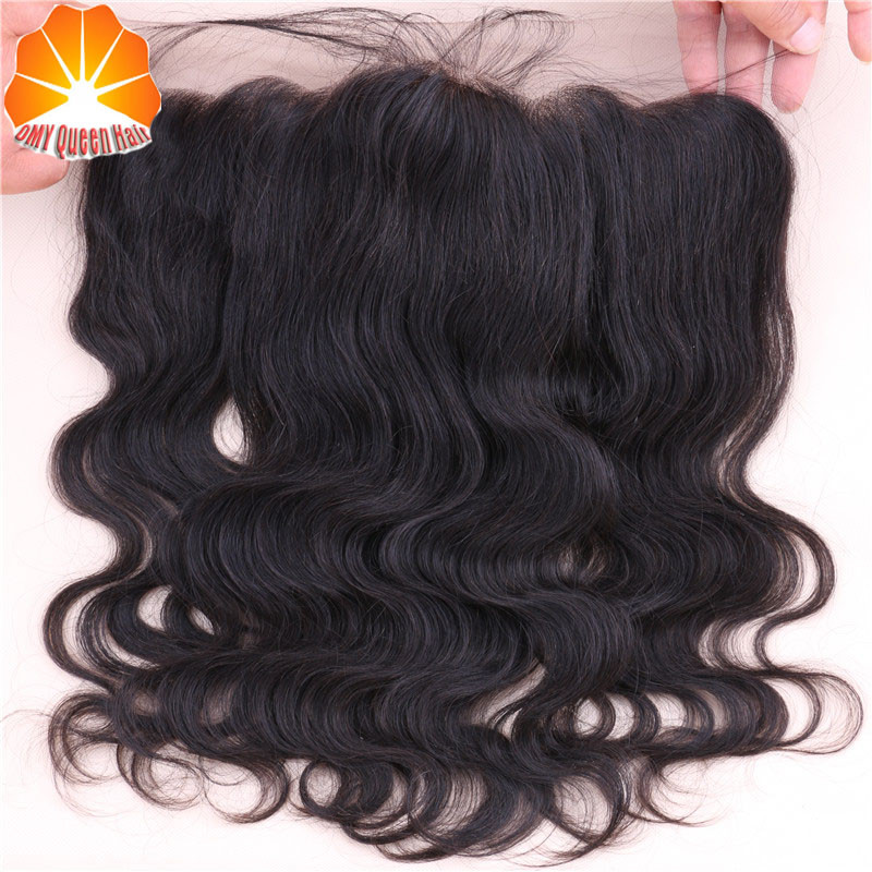 7A Grade 13*4 Ear To Ear Lace Frontal Closure With Baby Hair And Bleached Knots 100% Virgin Brazilian Human Hair Lace Frontal