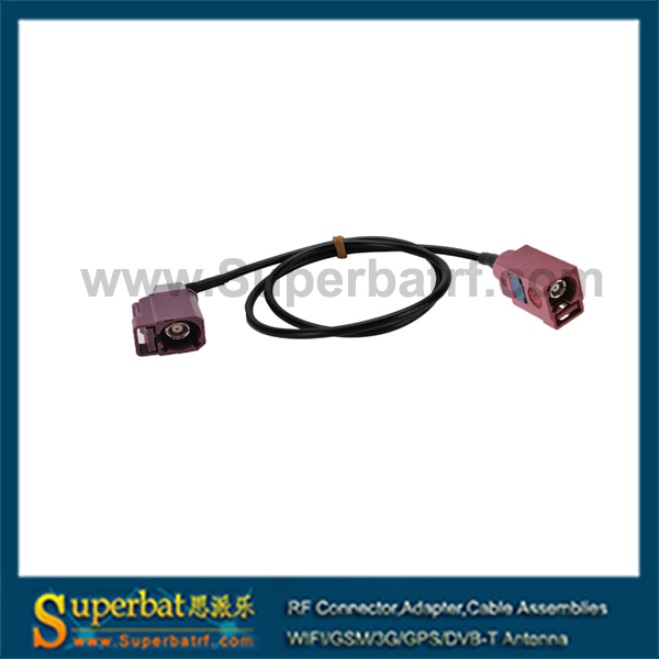 """Fakra Jack straight to Fakra Jack right angle pigtail RG174 """"D"""" antenna electrical cable manufacturers(China (Mainland))"""