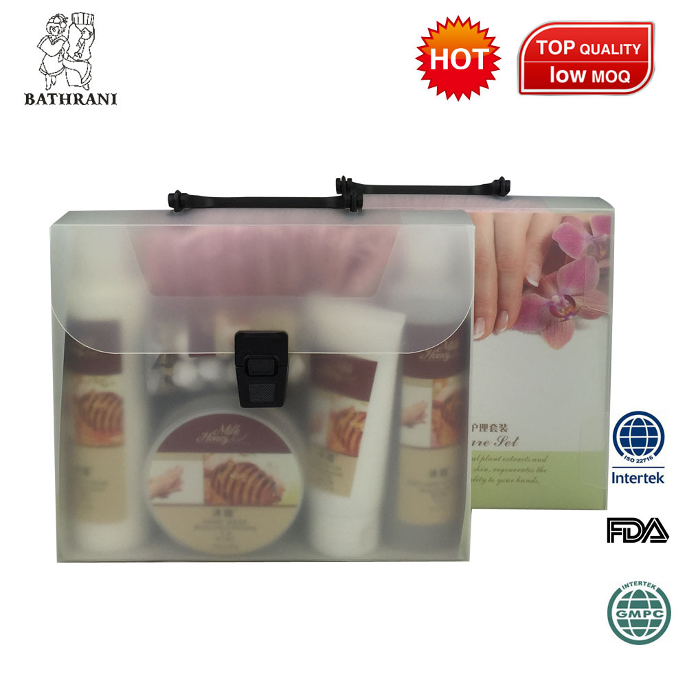 By 5 Products Hand And Foot Care Box Set Soaking Fizz Salt Scrub Massage Cream Mask Cream Special Body Care Set(China (Mainland))