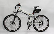 On SALE! 50% OFF White Color Electric Bike 36V 350W Electric Bicycle, Foldable Frame with 36V 12Ah Seatpost Lithium Battery(China (Mainland))