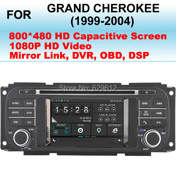 Car multimedia system For Jeep Grand Cherokee Car DVD Player GPS (1999-2004) Stereo,Support 1080P High Definition Video Play(China (Mainland))