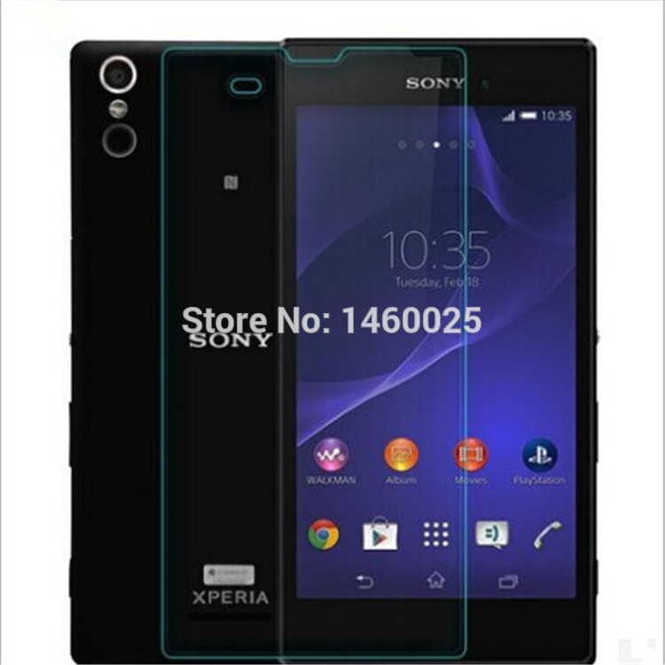 Ultrathin 0.3mm 2.5D Premium Tempered Glass Screen Protector for SONY Xperia T3 M50W Toughened protective Screen Film(China (Mainland))